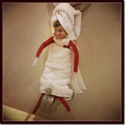 Showering Elf