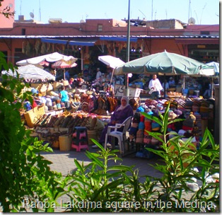 small outdoor market within the souk, Marrakech