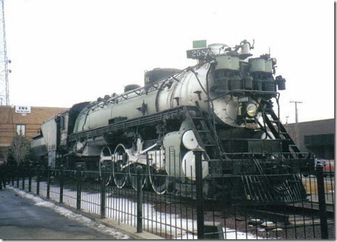 Great Northern S-2 4-8-4 #2584 at Havre, Montana in February 2000