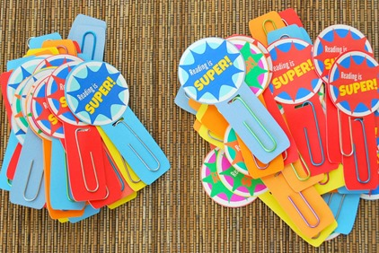 Reading is Super DIY Bookmark Classroom Gift