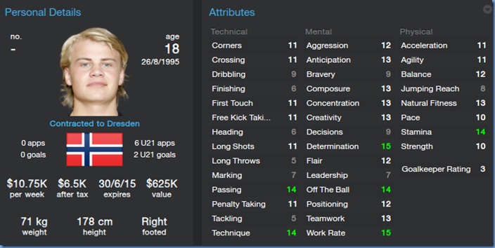 Herman Stengel in Football Manager 2014