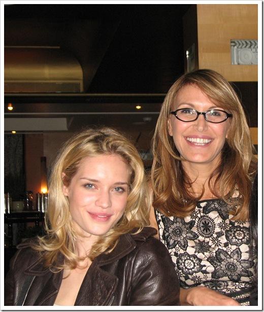 רונית רפאל וג'ולי אורדון  בפתיחת הספא של רונית רפאן במלון מרטינז בקאן  צילום   דניאל רוביי