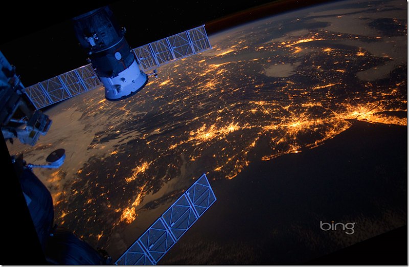 East coast from ISS