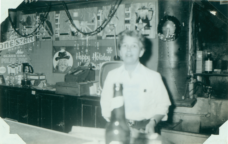 "Dottie Frank at Acme Bar. The album caption reads: ""Dottie Frank: my worst display of bad taste."" Circa 1961"