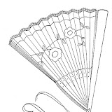 HAND FAN COLORING PAGES