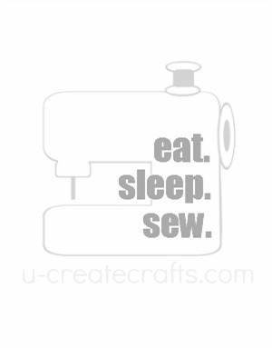 Free Printable Eat. Sleep. Sew. {gray}