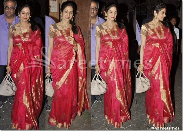 Sridevi_Red_Traaditional_Silk_Saree
