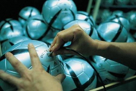 Process of making a football in Adidas