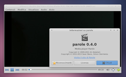 Parole Media Player 0.4.0