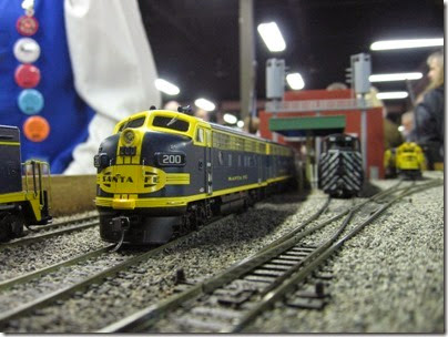 IMG_5383 Atchison, Topeka & Santa Fe F7A #200 on the LK&R HO-Scale Layout at the WGH Show in Portland, OR on February 17, 2007
