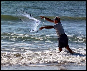 Fishing - Bill getting bait