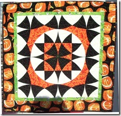 medallion halloween quilt outside