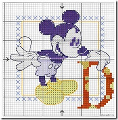 Download Abecedario Mickey Mouse en punto de cruz | En Punto de cruz