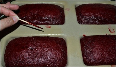 red velvet cake wet toothpick
