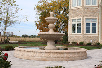10' Round Acanthus Fountain Pool Surround, Giallo Fantasia Y