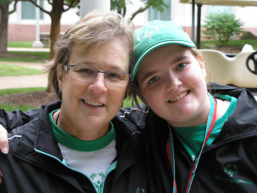 Special Olympics participant Sierra Simmons and her coach Bridgete Rebori. (Photo credit: Jeremy Shreckhise)