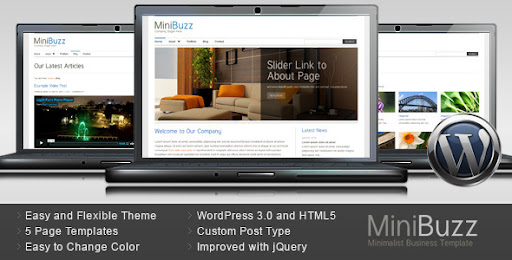 MiniBuzz - Minimalist Business WordPress Theme - Business Corporate
