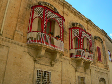 Malta pictures: balconies of Floriana