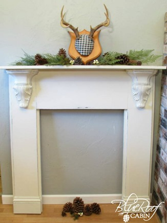 DIY Faux Fireplace Mantel Tutorial