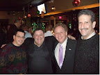 Lance Dashefsky, Stonewall Democrats Past Presidents Marty Algaze & Bob Zuckerman, and Howie Katz.