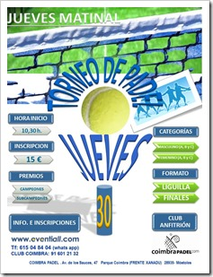 TORNEO JUEVES 30 DE MAYO EVENTIALL COIMBRA CLUB