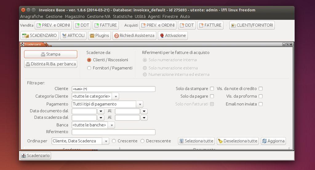 Invoicex in Ubuntu Linux
