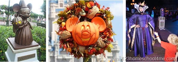 Disney World at Halloween in October