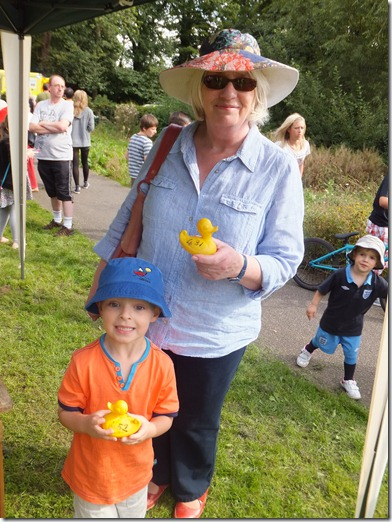 Duck Race 1st and 2nd prize winners