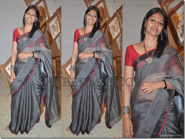 Nandita_Das_Grey_Cotton_Saree