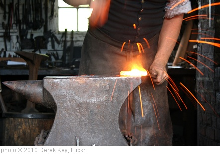 'Blacksmith at Work - Colonial Williamsburg' photo (c) 2010, Derek Key - license: http://creativecommons.org/licenses/by/2.0/