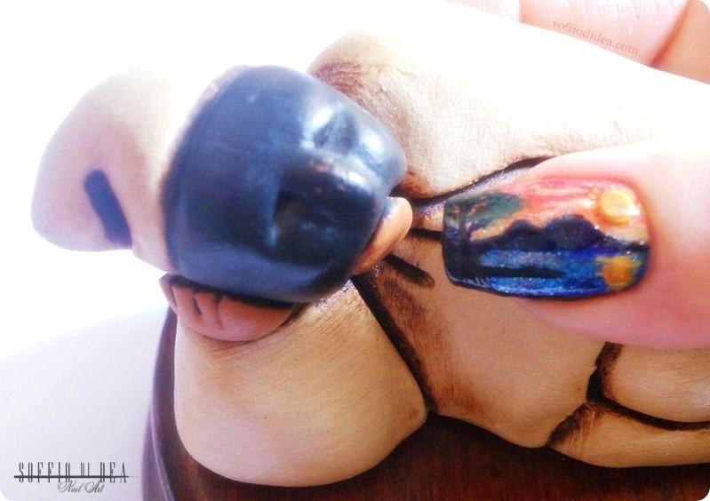 nail art - soffio di dea - tramonto sul vesuvio -3