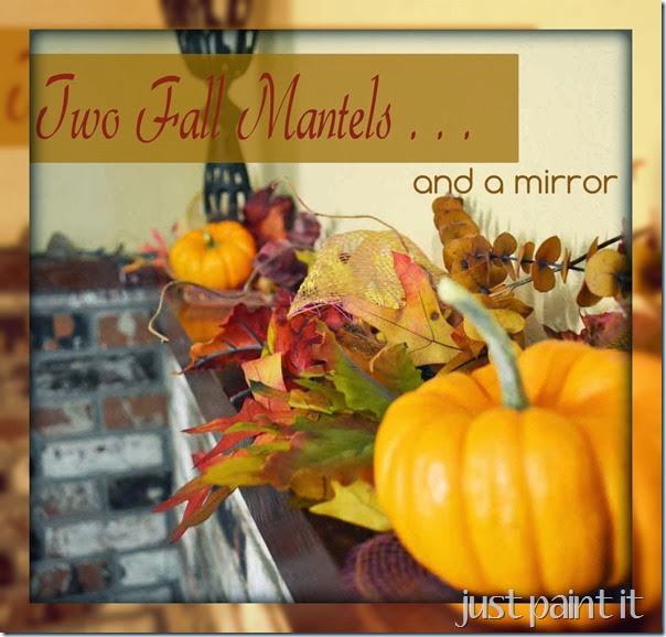 Two Fall Mantels and a Mirror