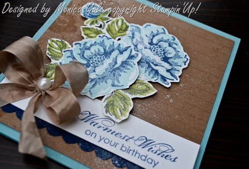 stampin'Up! Stippled Blossoms with Monica Gale, check out this blog for more ideas_
