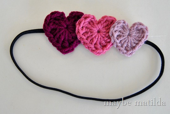 DIY Valentine's Heart Headband (crochet)