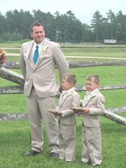 Kellys wedding 6.29.2013  best man and twins2