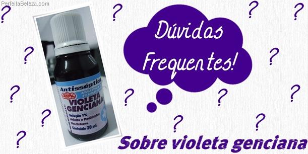 Dúvidas sobre violeta genciana- violeta genciana para cabelos loiros