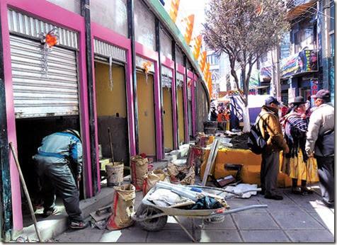 Comerciantes en El Alto