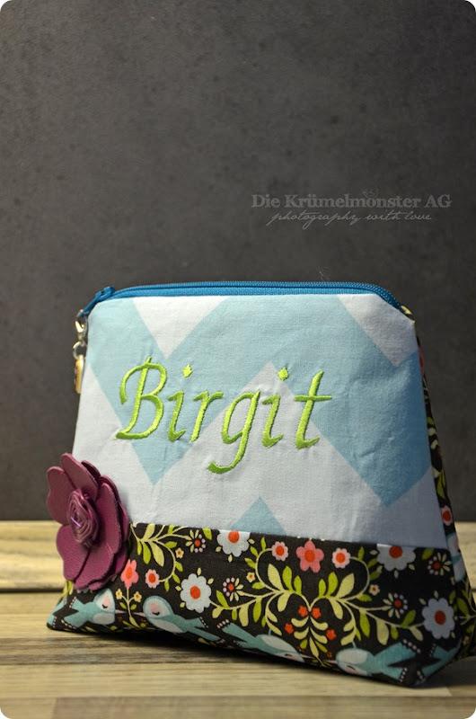 Kosmetiktäschchen Schnitt Lieselotte - Birgit - Vögel