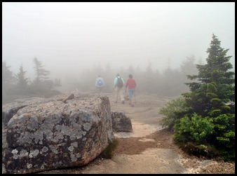 19 - fogged in at the summit - no views;o(