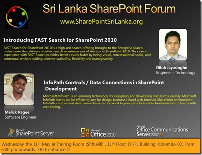 04 - SriLankaSharePointForum - 11th May 2011