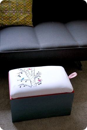 ScreenPrintedStorageOttoman
