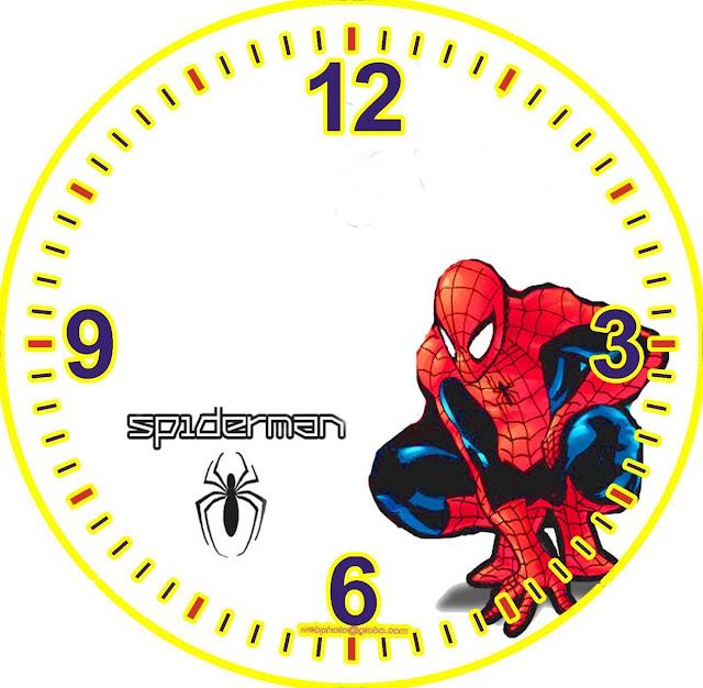 Relojes con personajes de dibujo para la pared - Dibujos de relojes para imprimir ...