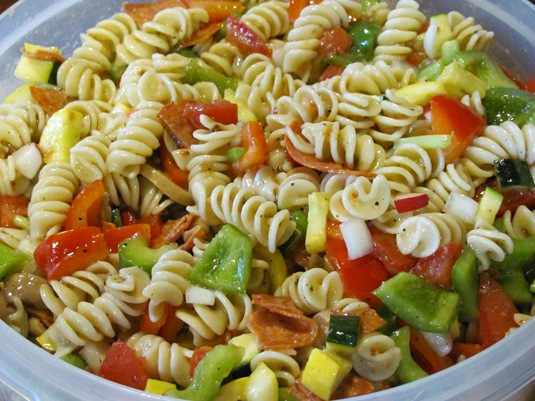 Reese cup and pasta salad 010