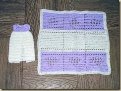 Burial preemie lilac and white