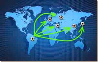 Fuga de talentos do futebol brasileiro