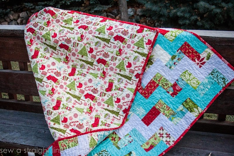 moda 12 days of Christmas quilt step in time sew a straight line-6