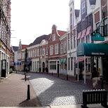 historic dutch shopping street at huis ten bosch in Sasebo, Nagasaki, Japan