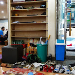 dinner in Itaewon - all shoes at the door in Seoul, Seoul Special City, South Korea
