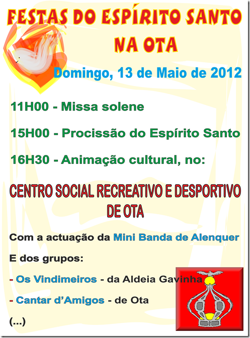 Festas do Espírito Santo - na Ota - 13.05.12