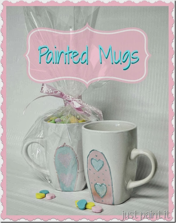 Painted Dollar Store Mugs